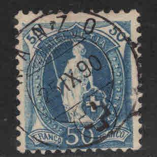 Switzerland Scott 86 used from 1891-1899 set perf 11.5