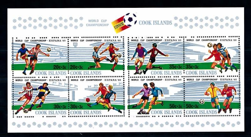 [60605] Cook Islands 1981 World Cup Soccer Football Spain MNH Sheet