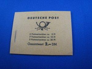 GERMANY (DDR)  1957-1960  -  SCOTT # 330c & 477b  BOOKLETS - LOT OF 9  MNH
