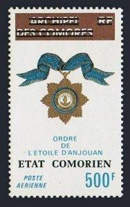 Comoro Islands C95,MNH.Michel 211. Order of the Star of Anjouan,overprinted,1975