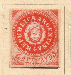 Argentina 1862 Early Issue Fine Mint Hinged 5c. NW-11805
