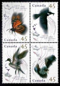 Canada Scott 1563-1566a MNH** Migratory Wildlife block