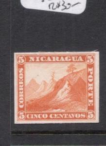 Nicaragua 1862 5c Proof in Orange VFU (9dng)