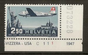 Switzerland 1947 2fr50 Air SG472 MNH Cat£29