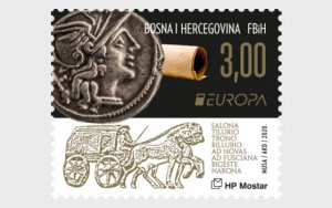 Stamps Bosnia and Herzegovina Mostar 2020. - Europe 2020 - Ancient postal routes