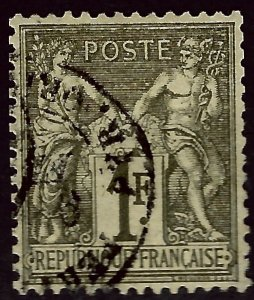 France #76 Used VF hr SCV$11.00...Iconic Stamp!