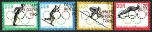 GDR. 1963. 1000-3. Innsbruck Winter Olympic Games. USED.