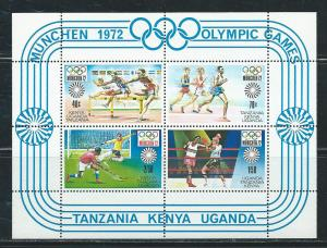 Kenya Uganda Tanganyika 253a 1972 Olympics s.s. NH