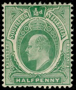 SOUTHERN NIGERIA SG33a, ½d grey-green, NH MINT. Cat £15.