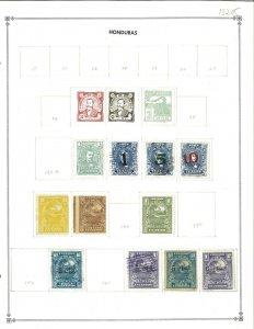 Honduras 1896-1939 M & U Hinged on Blank Scott International Pages.