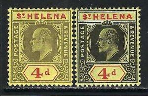 ST. HELENA 57 MOG/NH ORDINARY /CHALK T395