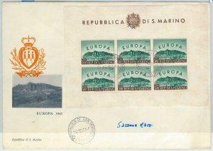 65218 -  SAN MARINO - POSTAL HISTORY -  FDC BUSTA  1961: EUROPA FOGLIETTO