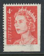 Australia SG 385 - Used  booklet stamp bottom corner Right Margin imperf