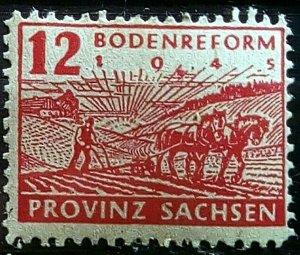 Germany Provinz Sachsen Mi 86 Plate Flaw mnh