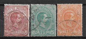 COLLECTION LOT OF # 829 ITALY # Q3-5 1884 CV +$ 61