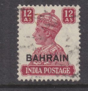 BAHRAIN, 1942 on India, KGV 12a. Lake, used.