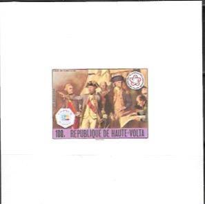 Upper Volta US Bi-Centennial proof card #C241 Airmail