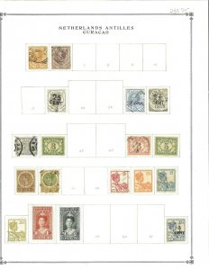 Netherlands Antilles (Curacao) 55MInt & Used Hinged on Scott Blank Pages