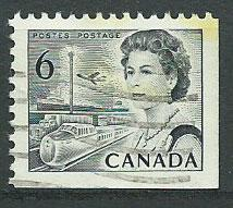 Canada SG 607a Used from booklet imperf  bottom right