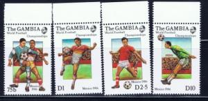 Gambia 615-18 NH 1986 World Cup Soccer set
