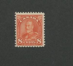 1930 Canada King George V Arch Leaf Issue 8c Postage Stamp #172 CV $16
