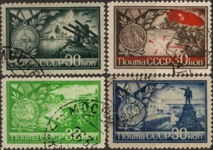 Russia/USSR 1944 WW-2,Defense of Stalingrad,Odessa,Sevastopol,#911-14,USED