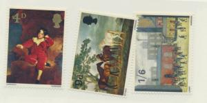 Great Britain Stamps Scott #514 To 516, Mint Light Hinge Marks MLH, Paintings...