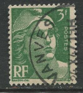 France - Scott 577 - General  Issue -1947 - Used - Single  3fr Stamp