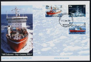 British Antarctic Territory 350-2 on FDC - HMS Endurance