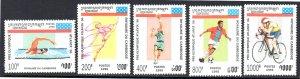 CAMBODIA 1421-1424 MNH SCV $6.25 BIN $3.75 SPORTS