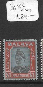 MALAYA SELANGOR  (P1105B) $1.00   SG 86  MOG