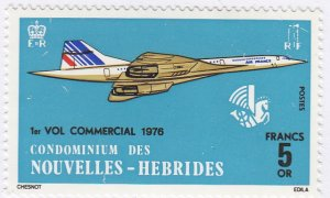 French New Hebrides, Sc 223 (2), MNH, 1976, Concorde, Air France