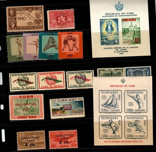 Cuba- Airmails NH sets (Catalog Value $57.75)
