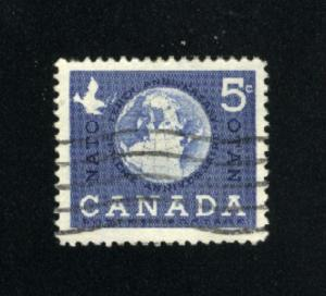 Canada  384  -1   used VF PD 1959