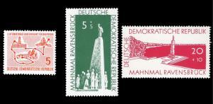 Germany DDR 1957 Sc 346, B31-32 MVLH Bicycle Race, Ravensbruck Memorial