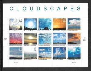 #3878 MNH CLOUD SCAPES 37¢ Sheet of 15 (((Stock Photo)))
