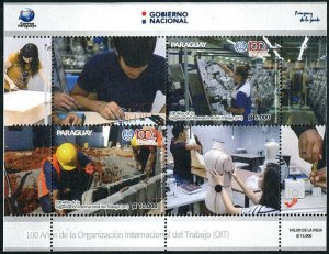 HERRICKSTAMP NEW ISSUES PARAGUAY Sc.# 3102 100th Anniv. OIT S/S