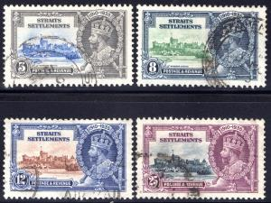 213-216 Straits Settlements, Jubilee Issue, Used Set, 1935