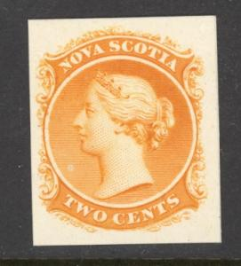 Canada Nova Scotia Sc# 9TCi MNH Plate Proof 1860 2¢ orange Queen Victoria