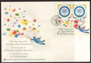 UN New York 811 Anniversary Souvenir Sheet U/A FDC