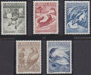 Greenland 41-45 MNH (1967-1969)