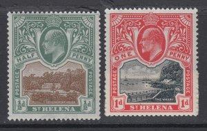 St. Helena, Scott 50-51 (SG 55-56), MNH