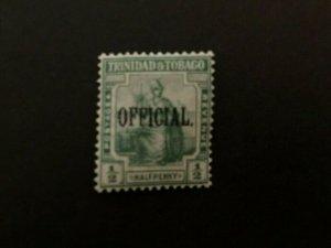 Trinidad & Tobago: 1910, 0.5d green 'official', Mint