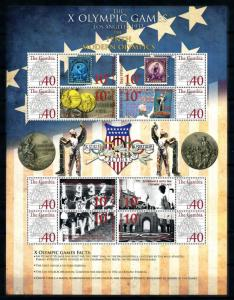 [78226] Gambia 2008 Olympic Games Los Angeles Stamps on Stamps Full Sheet MNH