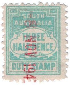 (I.B) Australia - South Australia Revenue : Stamp Duty 1½d