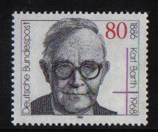 Germany  1986  MNH Karl Barth complete