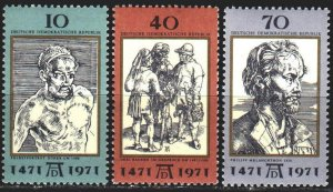 GDR. 1977. 1672-74. D?rer, paintings, 500 years. MNH.