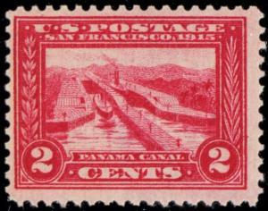 398, Mint F/VF NH 2¢ Panama Canal Stamp Cat $40.00 -- Stuart Katz