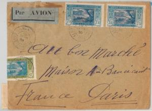 Ivory Coast - Côte d'Ivoire -  POSTAL HISTORY: COVER to FRANCE 1936