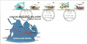 Cocos Islands, Worldwide First Day Cover, Aviation